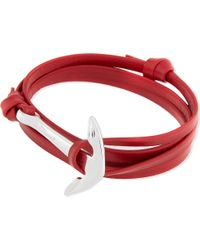 Miansai | Metallic Leather Anchor Bracelet - For Men | Lyst
