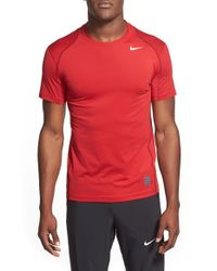 Nike - Gray 'pro Cool Compression' Fitted Dri-fit T-shirt for Men - Lyst