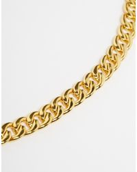 Mister - Metallic Chain Link Necklace for Men - Lyst