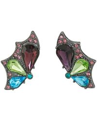 Betsey Johnson - Multicolor Butterfly Effect Wing Stud Earrings - Lyst
