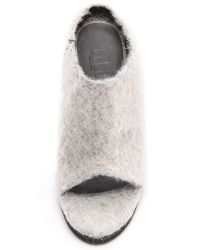 Tibi - Gray Leona Mules Ice Grey - Lyst