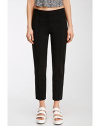 Forever 21 | Black Stitched-crease Pants | Lyst