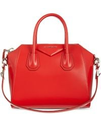 Givenchy | Red Antigona Small Leather Tote | Lyst
