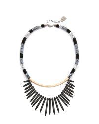 Adia Kibur - Avery Necklace - Black/gold - Lyst