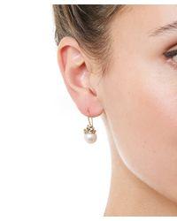 Ruth Tomlinson - Metallic Gold Diamond Encrusted Pearl Drop Earrings - Lyst