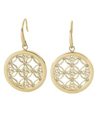 Michael Kors - Metallic Goldtone And Glitz Small Drop Earrings - Lyst