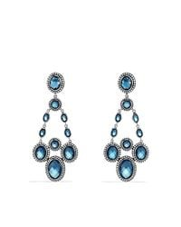 David Yurman | Blue Renaissance Chandelier Earrings With Diamonds | Lyst