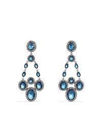 David Yurman - Blue Renaissance Chandelier Earrings With Diamonds - Lyst