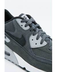 Nike | Air Max 90 Black And Grey Leather Trainers for Men | Lyst