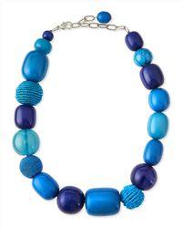 Marina Rinaldi | Green Lauto Beaded Collar Necklace | Lyst