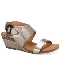 Söfft | Gray Vanita Wedge Sandals | Lyst