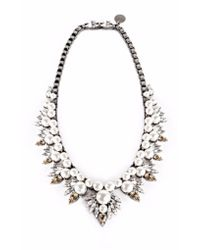 Ellen Conde | White Pearl And Crystal Sr2 Necklace | Lyst