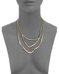 Alexis Bittar - Metallic Miss Havisham Jagged Crystal Draped Bib Necklace - Lyst