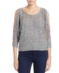 Jessica Simpson | Black Hanson Cold-shoulder Sweater | Lyst