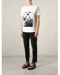 Iceberg - White Rose Photo T-Shirt for Men - Lyst