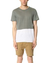Onia | Gray Colorblock Tee for Men | Lyst