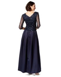 Patra - Blue Embellished Sequin Gown - Lyst