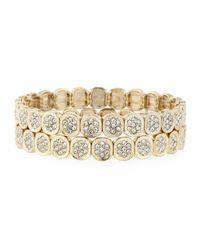 R.j. Graziano - Metallic Pavé Stretch Bracelet Set - Lyst