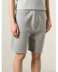 Neil Barrett - Gray Classic Track Shorts for Men - Lyst