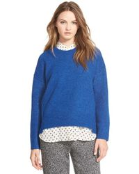 Madewell - Blue 'sonia' Shifted Seam Sweater - Lyst