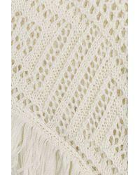 Emilio Pucci - Crochet Knit Cape - White - Lyst