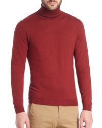 Saks Fifth Avenue - Purple Musso Virgin Wool Turtleneck Sweater for Men - Lyst