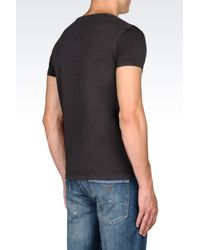 Armani Jeans | Gray Jersey T-shirt for Men | Lyst