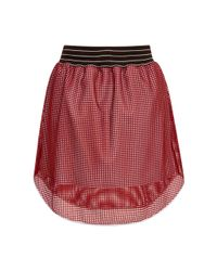 Clover Canyon - Red Square Mesh Mini Skirt - Lyst