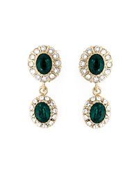 Givenchy | Metallic Dropped Gemstone Earrings | Lyst