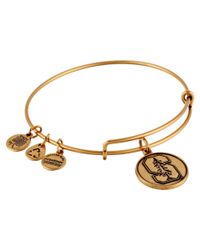 ALEX AND ANI | Metallic Stanford University Logo Charm Bangle | Lyst