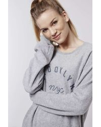 TOPSHOP | Gray Tall Brooklyn Sweatshirt | Lyst
