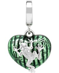 Theo Fennell | Sterling Silver And Green Enamel 'Art Frog Charm - For Women | Lyst