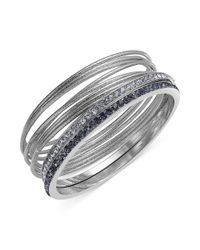 INC International Concepts | Metallic Inc International Concept Silver-tone Bangle Bracelet Set | Lyst