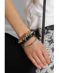Iam By Ileana Makri - Black Oxidized Silver, Pavé Diamond And Ebony Bracelet - Lyst