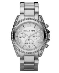 MICHAEL Michael Kors | Metallic Michael Kors 'blair' Chronograph Watch | Lyst