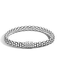 John Hardy - Metallic Dot Silver Small Chain Bracelet - Lyst