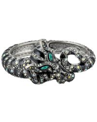 Betsey Johnson | Metallic Wrapped Up Silver Leopard Bangle | Lyst