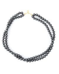 Stella McCartney | Gray Beaded Necklace | Lyst