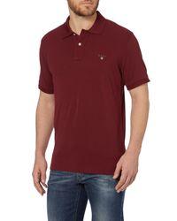 GANT | Red Pique Polo Shirt for Men | Lyst