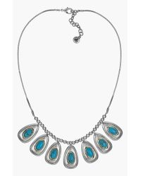 Sam Edelman | Blue Stone Frontal Necklace - Turquoise | Lyst