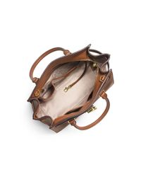Michael Kors - Brown Hamilton Traveler Leather Satchel - Lyst