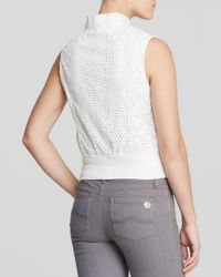 Kut From The Kloth - White Naara Perforated Faux Leather Vest - Lyst