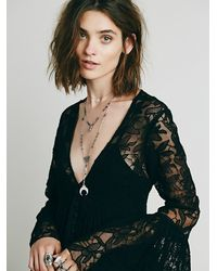 Free People | Black With Love Dress | Lyst