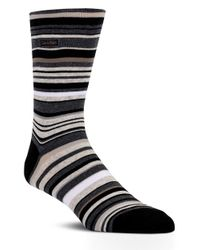 Calvin Klein | Multicolor Striped Barcode Sock for Men | Lyst