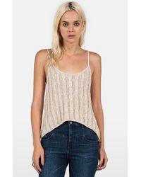Volcom - Natural 'on Track' Knit Camisole - Lyst
