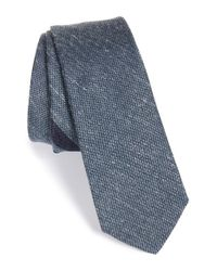 W.r.k. | Blue Stripe Silk & Cotton Tie for Men | Lyst