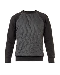 Christopher Raeburn | Black Quilted-front Sweatshirt for Men | Lyst