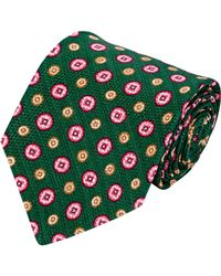 Kiton - Green Medallion Neck Tie for Men - Lyst