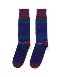 Paul Smith   Blue Stripe Socks for Men   Lyst