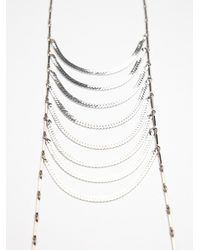 Free People - Metallic Cascade Layering Necklace - Lyst